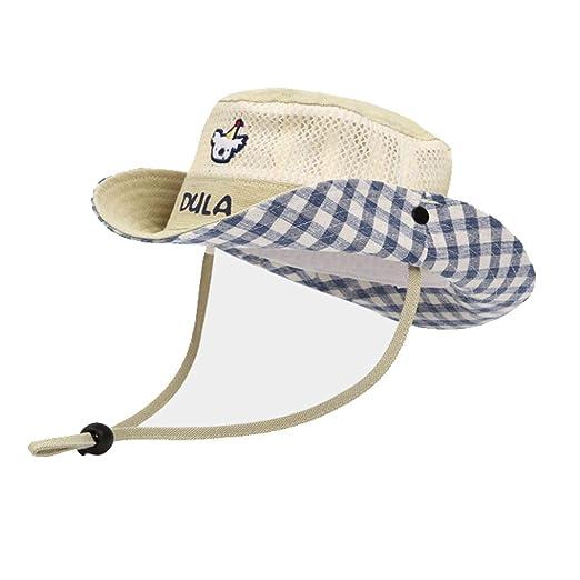 Kehuitong Sombrero, Sombrero de Sol para niños, Gorra para ...