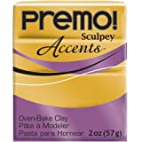 Premo Sculpey Polymer Clay 2 Ounces-18K Gold
