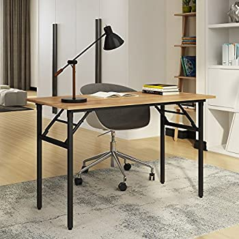 Need Computer Desk for Home Office 39.4''Modern Folding Table Computer Desk  with BIFMA