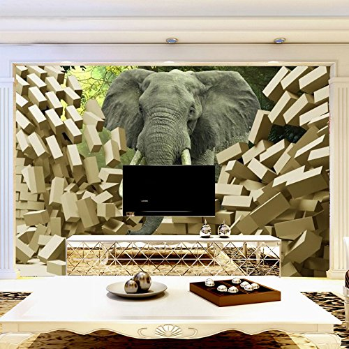 3d Stereoscopic Video - Sproud Large Living Room Tv Backdrop Mural Wallpaper 3D Stereoscopic Video Brick Wall Like Wallpaper Silk Cloth Wallpaper 430cmX300cm