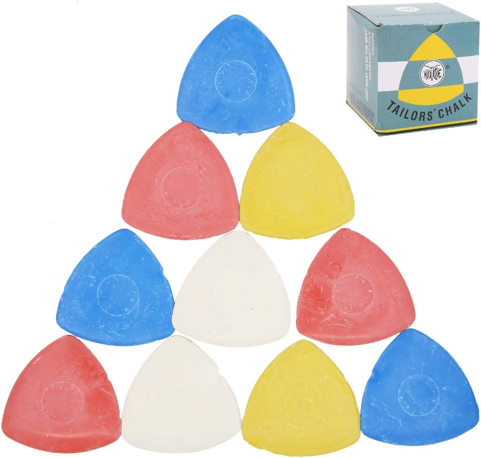 Sewing Notions /& Accessories DIY Crafting Notions 10Pcs Tailors Chalk Quilting Triangle Tailors Fabric Marker Chalk for Tailoring Sewing Fabric Marking