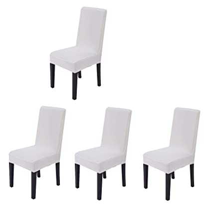 Amazon Com 4 Pieces Spandex Stretch Washable Dining Room Chair