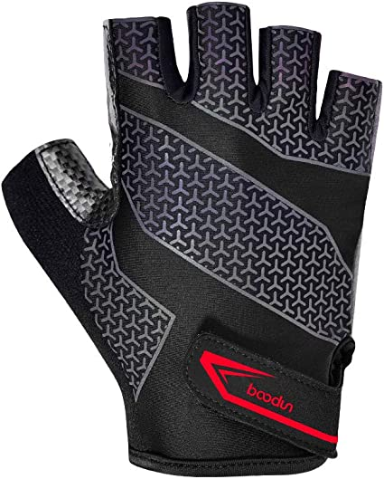 BOODUN Cycling Gloves Mountain Bike Gloves Bicycle Road Half Finger Anti-Slip Shock-Absorbing Breathable Gel Pad Outdoor Sports Gloves for Men /& Women