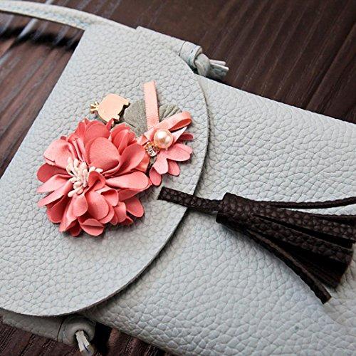 Messenger Femmes OHQ Pas à BandoulièRe A Bleu Purse Bag Cher Gris TéLéPhone De Mini Fleur Guess Floral Gris Main Sac Bandoulieres Noir Marque Langer Rose Cuir Applique 8rZq8