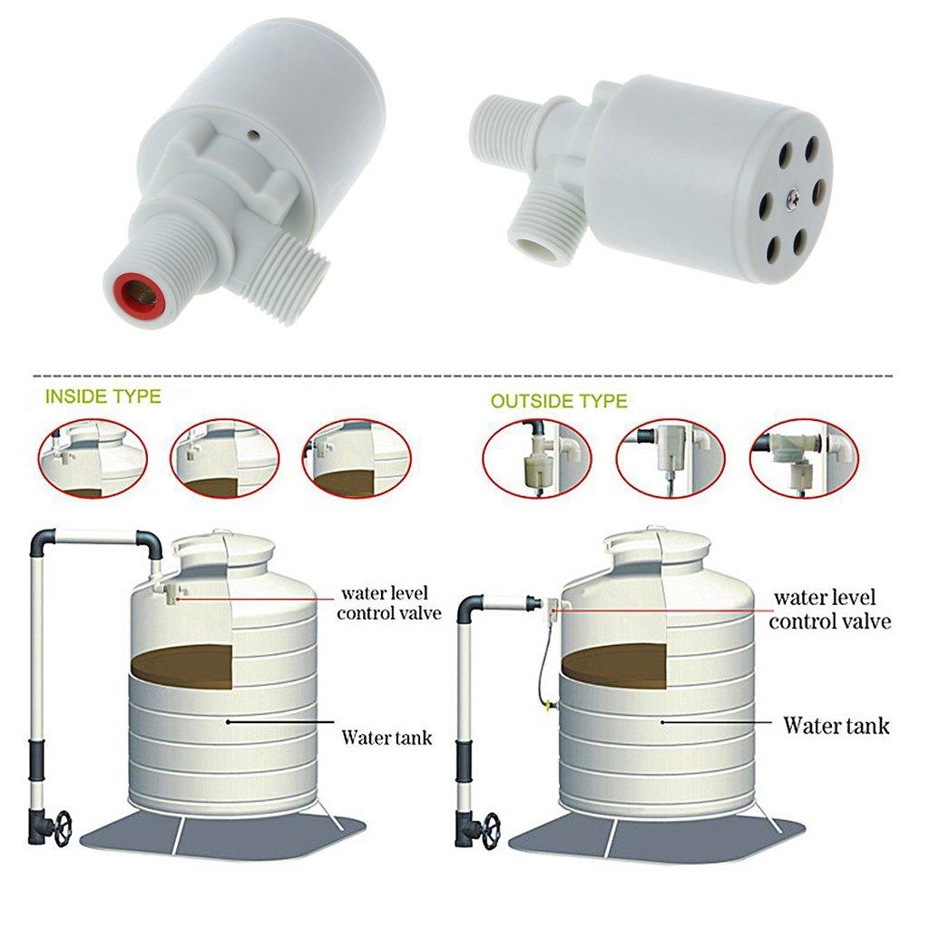 Freshsell - Válvula de Control automática de Nivel de Agua para Tanque de Torre con válvula de Bola Flotante: Amazon.es: Productos para mascotas