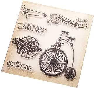 SimpleLife Sellos Transparentes, Sellos claros para álbum de Fotos DIY Scrapbooking Sello de Silicona BikeCling: Amazon.es: Hogar