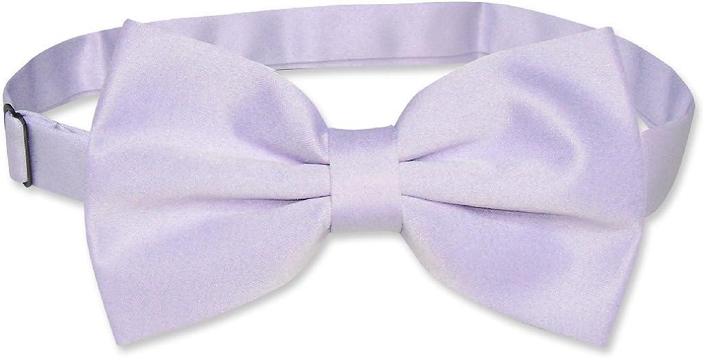 Vesuvio Napoli BOWTIE Solid Lavender Purple Color Mens Bow Tie for Tuxedo Suit
