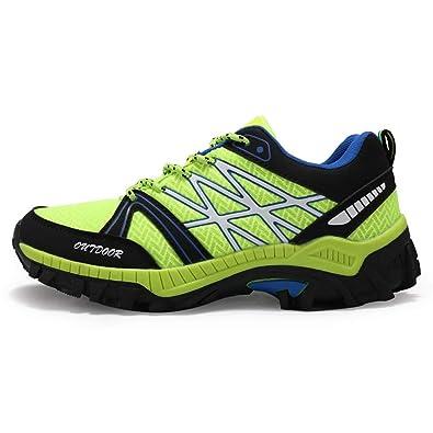 Senderismo Exterior Botas de Trekking Hombre Escalada Zapatos Deportivos a Prueba de Agua Verde 45 EU: Amazon.es: Zapatos y complementos