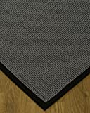 NaturalAreaRugs Cortona Sisal Area Rug, Handmade in USA, 100% Natural Sisal, Non-Slip Latex Backing, Durable, Stain Resistant, Eco-Friendly, (5 Feet x 8 Feet) Black Border Rug Pad Included