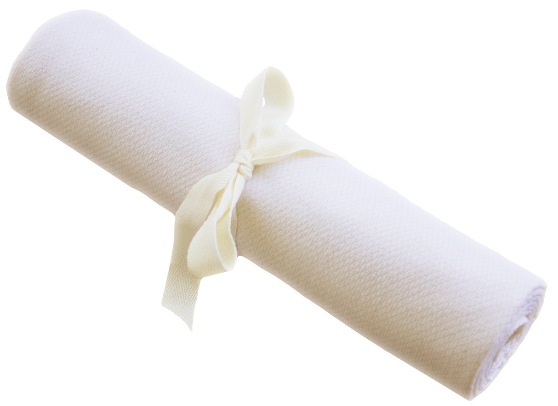 Organic Swaddle Blanket - USA Made 100% Cotton - OATMEAL