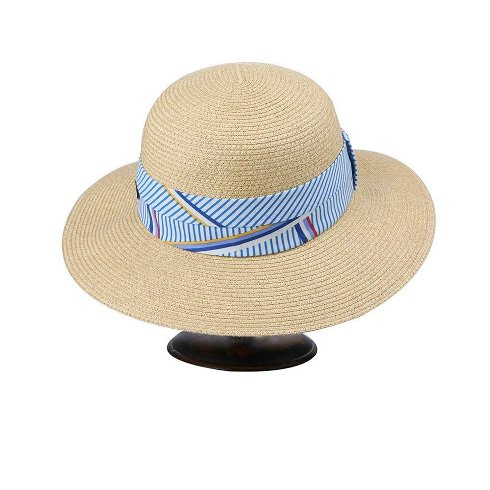 Zhangcaiyun Cappelli da Donna Sun Beach Spiaggia Cappello floscio da  Spiaggia Beach Estivo a Tesa Larga ... b1e5cfbd79ee