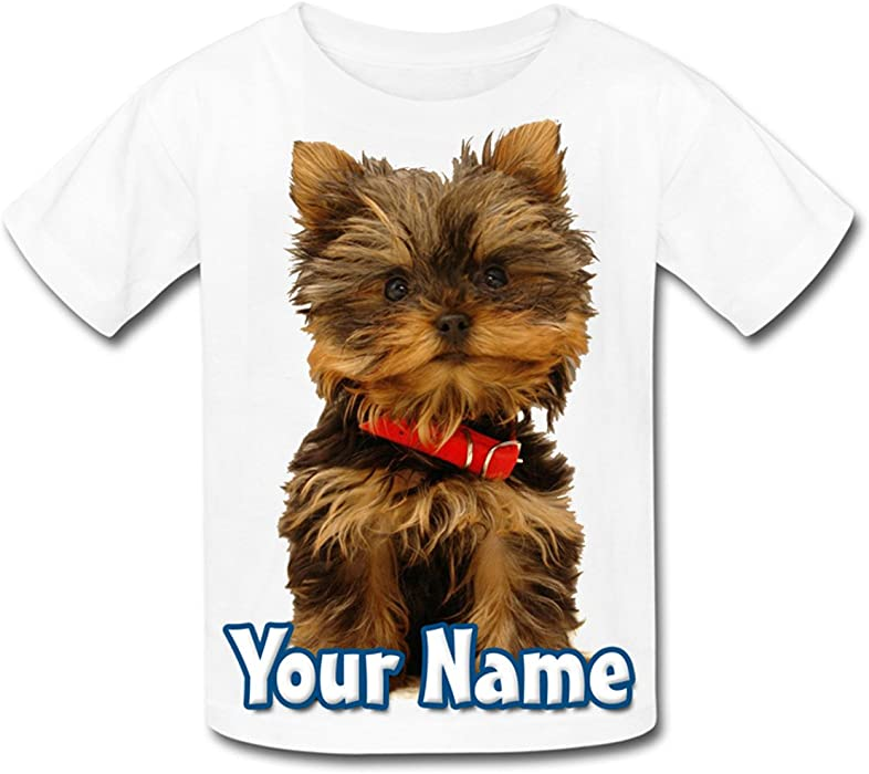 GIFT FOR A CHILD /& NAMED ! DACHSHUND DOG SUBLIMATION PERSONALISED KIDS T-SHIRT