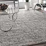 nuLOOM Contemporary Sherill Wind Area Rug, 6' 7' x 9', Grey