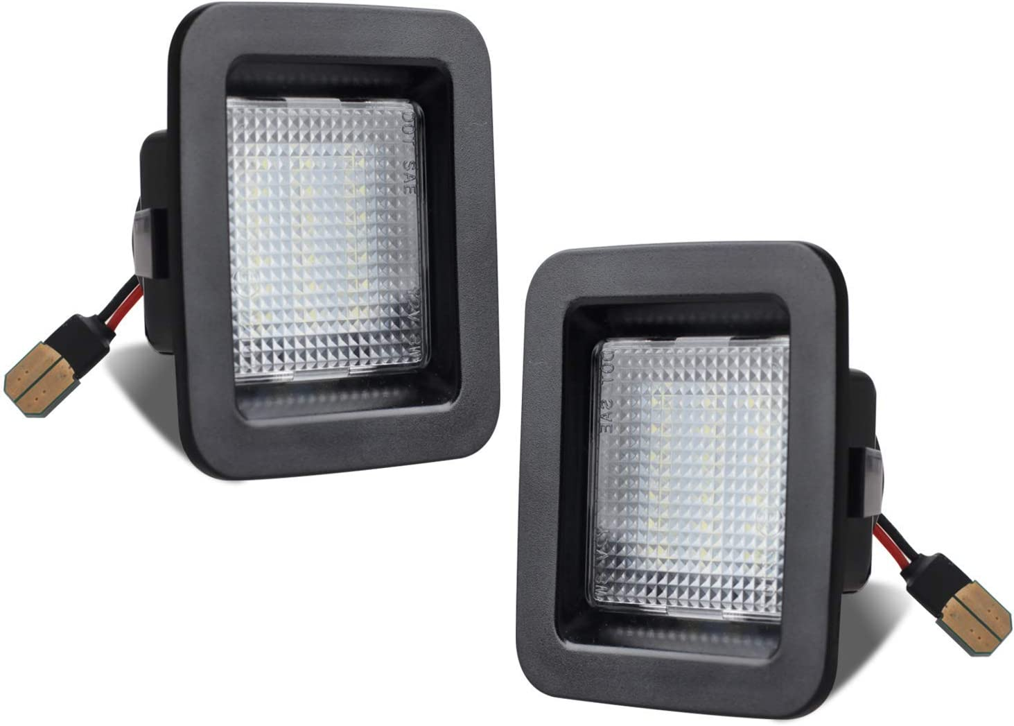 RUXIFEY LED License Plate Light Lamp Compatible with 2015 to 2018 Ford F150, 2017 2018 F150 Raptor, 6000K White, Pack of 2