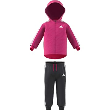 adidas Originals Unisex Baby Shiny Full Zip Hooded Tracksuit  Amazon ... dce980a66e