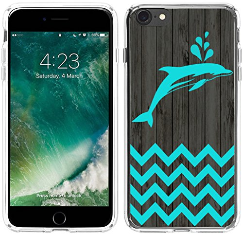 Pink Case Dolphin (Case For Iphone 6S Dolphin,Hungo Compatible Soft Tpu Silicone Protective Cover Case Replacement For Iphone 6/6S Chevron Dolphin Animal Theme Pattern)