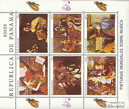 sellos para los coleccionistas M/úsica // bailar completa.edici/ón. 1968 musical representaci/ón encendido Gem/äld Prophila Collection Panam/á 1087-1092 Sheetlet
