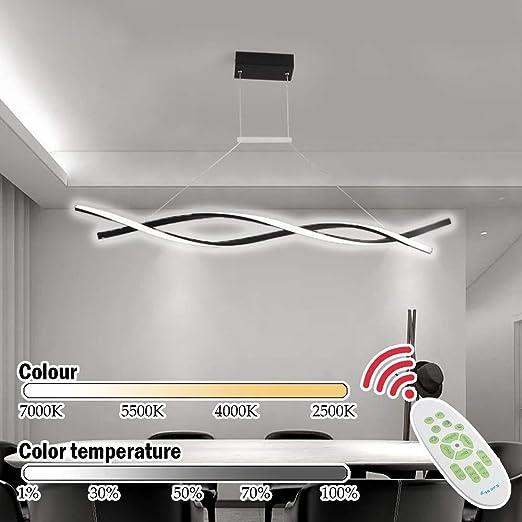WandaElite Lámpara Moderna Salón Comedor lámpara de Mesa LED ...