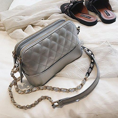 Bag Nuevo de Messenger Retro Bolso Moda Bolso C C POPO la nbsp;Gift nbsp; Bolso Cadena Bolso nbsp; del Señoras de JUSTYOU Pequeño Simple 4n0Twtqn