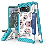 Galaxy Note 8 Case, Trishield Durable Shockproof High Impact Rugged Armor Phone Cover With Detachable Lanyard Loop Card Slot Built In Kickstand For Note 8 - Sugar Skulls