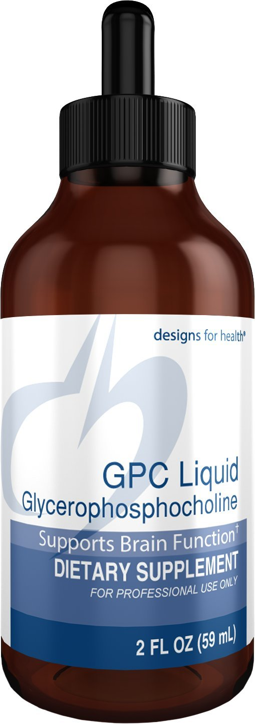 Designs for Health GPC Liquid Drops – 600mg Glycerophosphocholine, Choline Brain Support from Sunflower Lecithin 30 Servings 2oz