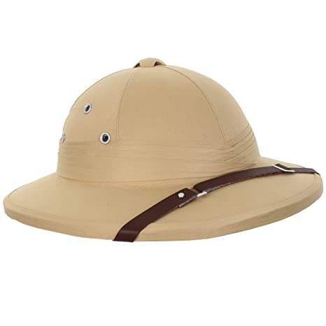 2c6c39cca6c Amazon.com  French Army Tropical Pith Helmet in British Khaki  Sports    Outdoors