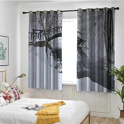 Amazon.com: Winter Living Room/Bedroom Window Curtains Snow ...