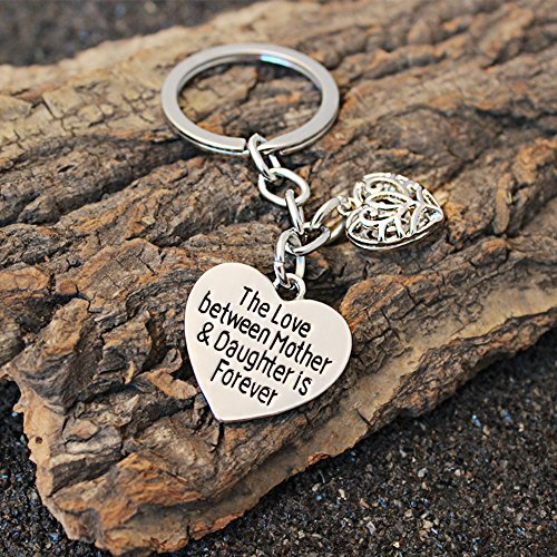 Mother's Day Gift Love Between Mother Daughter Is Forever Double Heart Key Chain Ring for Family Women Photo #4