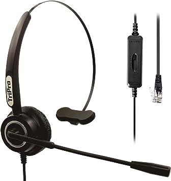 Amazon Com Tripro 4 Pin Rj9 Telephone Headset For Landline Desk Phones H510 Rj Home Audio Theater