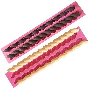 OFKPO 2 Pcs Molde de Silicona para Repostería, Chocolate, Pastel ...
