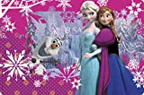 Zak! Designs Placemat with Elsa, Anna and Olaf from Frozen, BPA-free Plastic