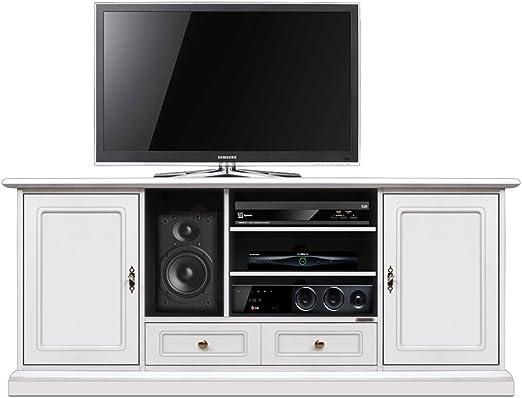 Arteferretto Mueble TV Blanco Home Cinema: Amazon.es: Hogar