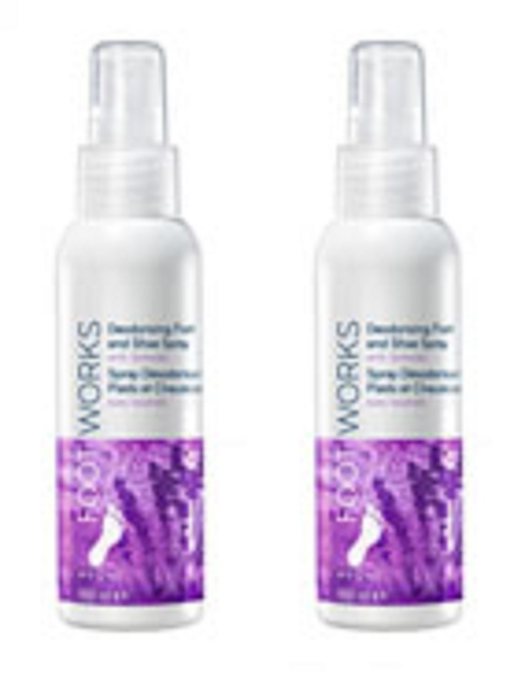 2 x Foot Works Deodorising Foot and Shoe Spray with lavender – 100ml. Avon