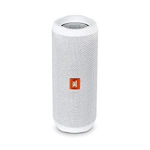 JBL Flip 4 Bluetooth Portable Stereo Speaker - White