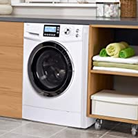 "24"" Washer Dryer Combo Compact White 2.0 Cubic. ft. Capacity 24"" White Electric Laundry Dryer and Washer Stainless Steel…"