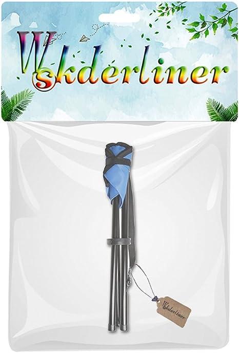 Wskderliner taburete plegable port/átil ligero Camping pesca senderismo tri/ángulo silla bolsillo lienzo tr/ípode con 3 patas de hierro azul