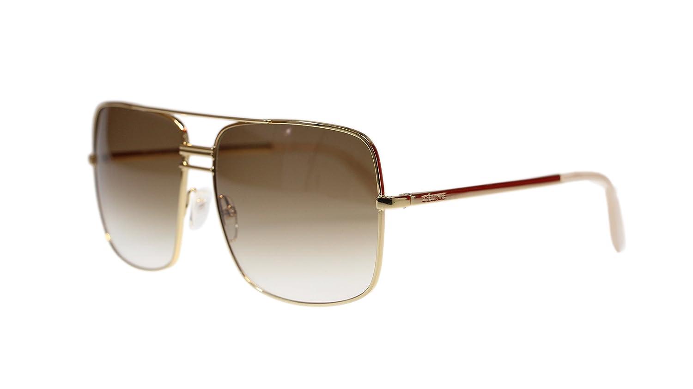 9a2cd24b657 Amazon.com  Celine Unisex Sunglasses CL41808 J5G Gold With Brown Lens  Square 61mm Authentic  Clothing