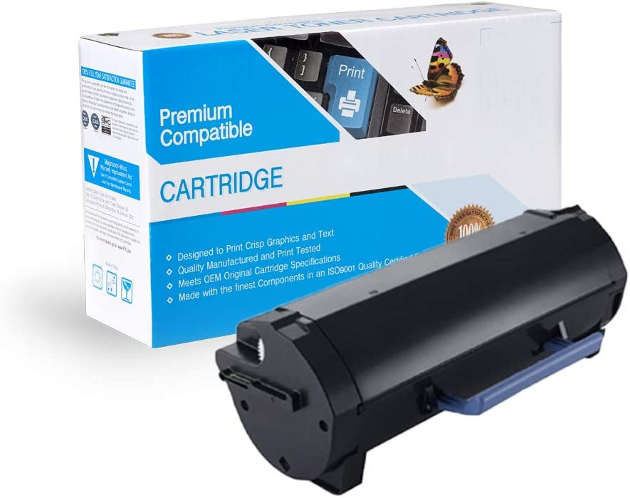 Black, 2 Pack MS Imaging Supply Laser Toner Cartridge Cartridge Replacement for Dell 593-BBYS