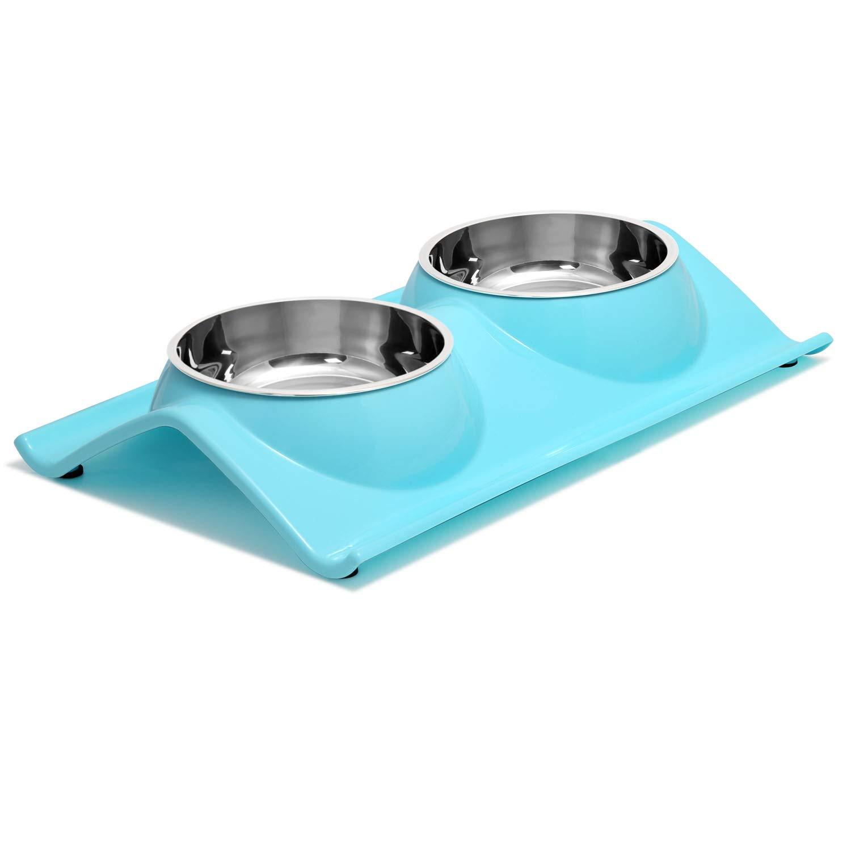 UPSKY Double Dog Cat Bowls