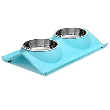 Amazon.com: upsky cuencos de doble perro gato mascota ...