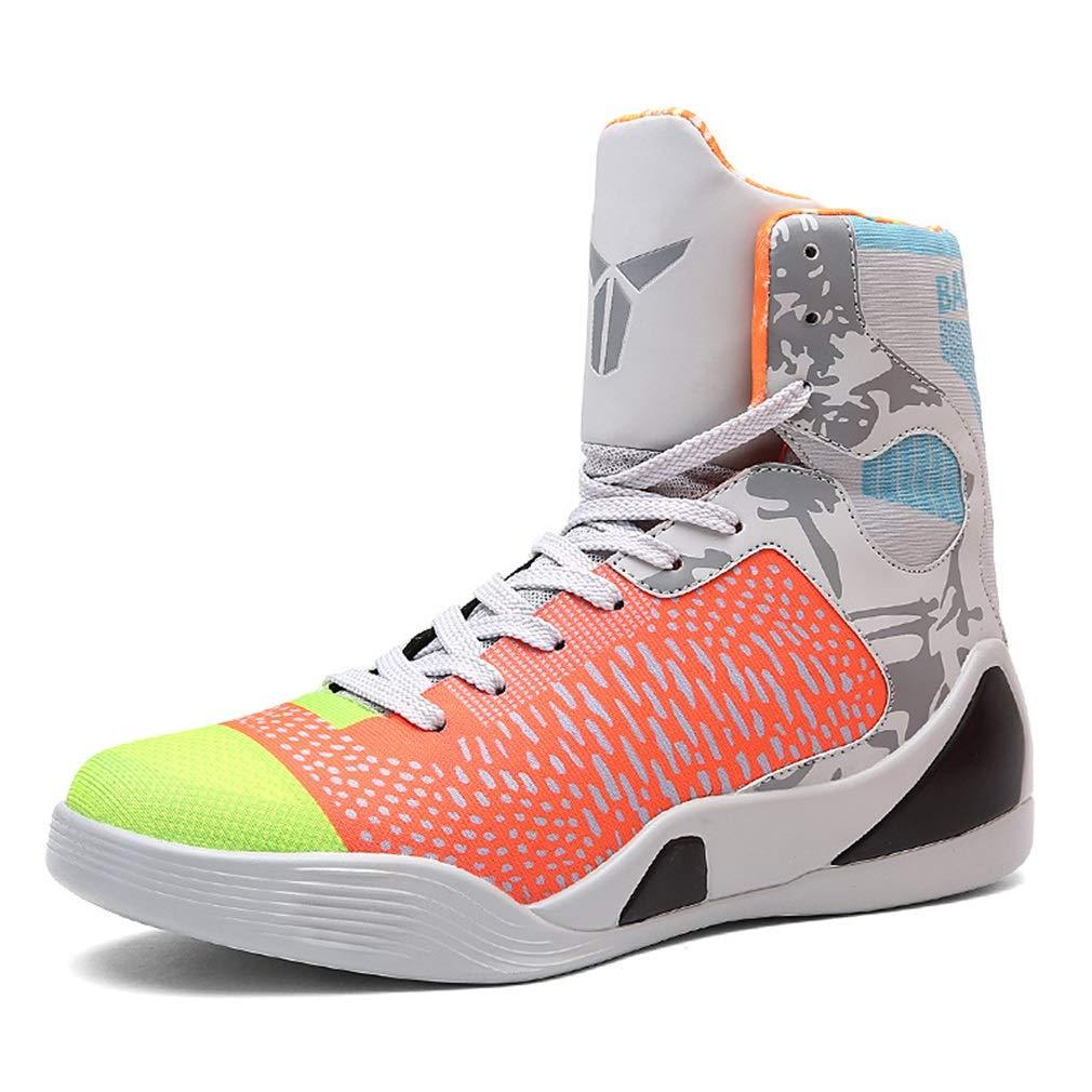 Bottes de basket-ball pour hommes. Baskets montantes. Chaussures de de Chaussures course antidérapantes résistantes aux chocs. Chaussures de sport à la mode. Nouvelles chaussures de fitness et d'entraînement croisé 44 B 18441b