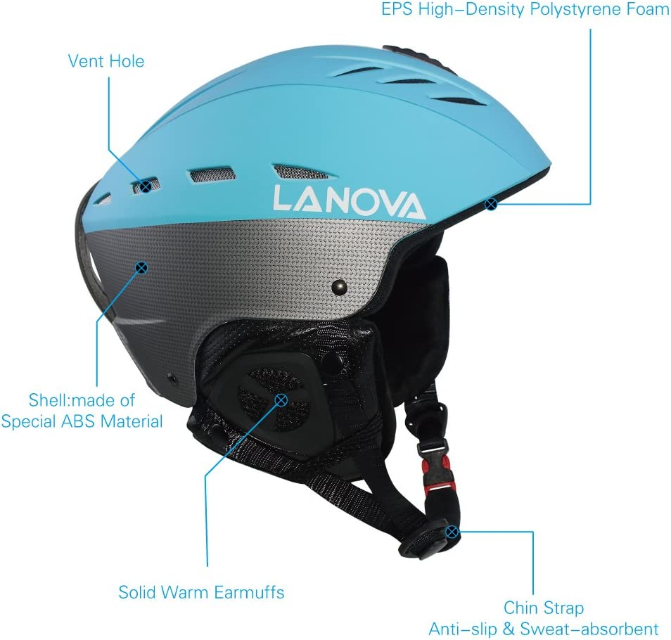 Lanova Ski Snowboard Helmet with ASTM Certified Safety for Men Women and Youth