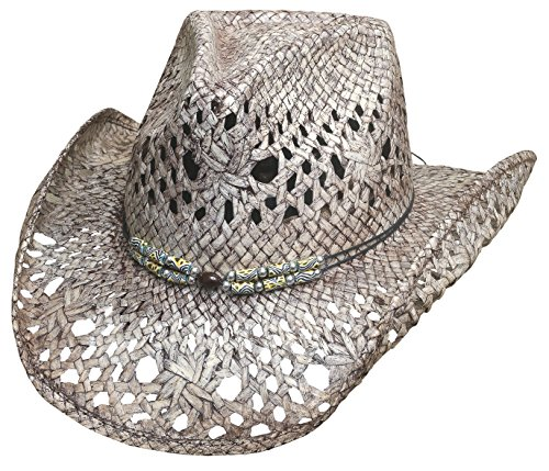 Montecarlo Bullhide Hats GONE CRAZY Toyo Straw Cowboy Western Hat (Large)