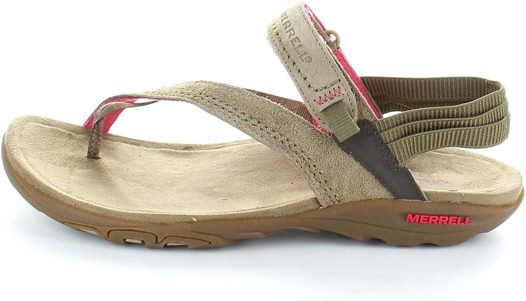 63d41ef8121f Merrell womens Womens Mimosa Clove Walking Sports Sandal Kangaroo ...