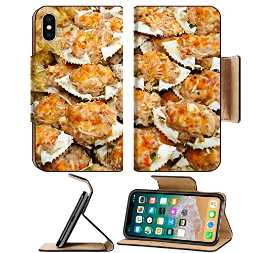 Liili Premium Apple iPhone X Flip Pu Leather Wallet Case IMAGE ID: 16210962 Deep fried crab meat and minced pork in crab shell ()