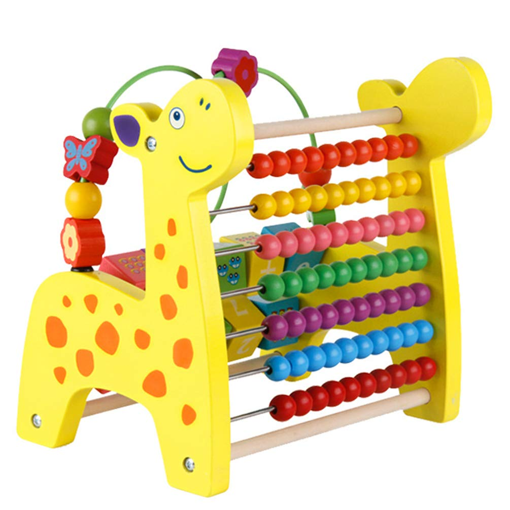 Multifunction Xylophone Toy, Hand Knocking Piano Counting Beads Graphic Digital Cognition Block 3 in 1 Fawn Children'S Educational Toys