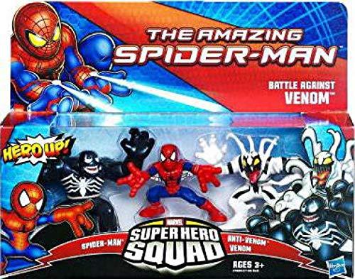 (Marvel Super Hero Squad The Amazing Spider-Man Battle Against Venom 3-Pack)