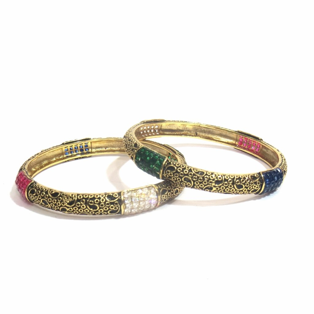Jewelshingar Jewellery Fine Micro Plated Bangles For Girls ( 32528-m-2.4 )