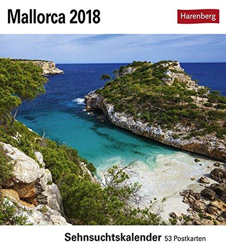 Mallorca - Kalender 2018: Sehnsuchtskalender, 53 Postkarten