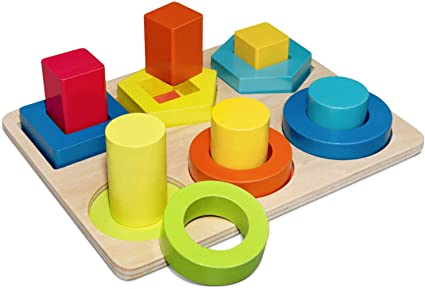 Amazon Com Educational Toys For 18 Month Old Boys Girls Top Toy Wooden Shape Puzzle Birthday Gifts Toys For 18 Month Olds Boys Girls Game For Kids Christmas Xmas Stocking Stuffers Stocking Fillers
